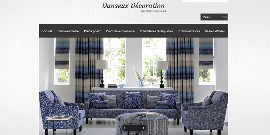 création site internet, Webdesign danseux décoration