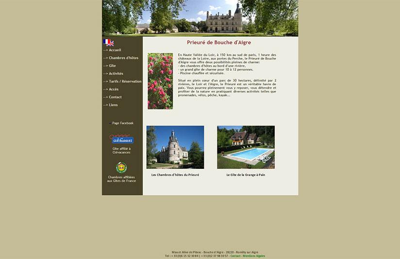 Site web, site internet, Webdesign, Le Prieuré près d'Orléans